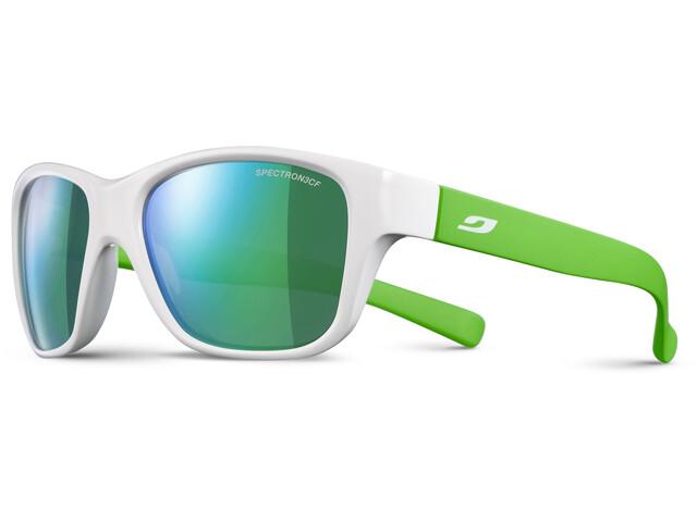 Julbo Kids 4-8Y Turn Spectron 3CF Sunglasses Shiny White/Fluorescent Green-Multilayer Green
